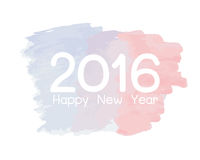 Happy new year 2016. Colorful watercolor paint design Royalty Free Stock Image