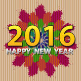 Happy New Year colors on corrugated vector Royalty Free Stock Photos