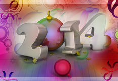 2014 Happy New Year. In colour background Stock Images