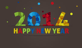 Happy new year 2014. Colourful Happy new year 2014 greeting card Stock Photo