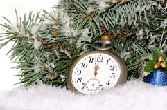 Happy New Year. Composition with old clock Stock Photography