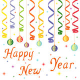 Happy New Year composition royalty free illustration