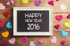 Happy new year composition Royalty Free Stock Image