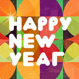 Happy New Year composition. Vector illustration Royalty Free Stock Image