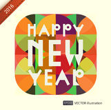 Happy New Year composition. Vector illustration Royalty Free Stock Photo