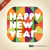 Happy New Year composition. Vector illustration Stock Images