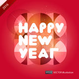 Happy New Year composition. Vector illustration. Happy New Year composition. Colorful vector illustration on red background Stock Images
