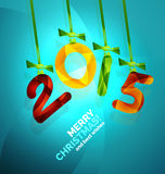 Happy New Year Concept. 2015 Happy New Year Concept, Christmas holiday icon Royalty Free Stock Photo
