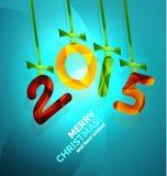 Happy New Year Concept. 2015 Happy New Year Concept, Christmas holiday icon Royalty Free Stock Photo