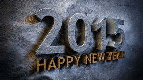 Happy new year 2015. Concept in 3d stock illustration