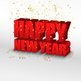 Happy New Year. Concept 3d Royalty Free Stock Photos