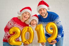 Happy New Year 2019 Concept royalty free stock photography