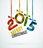 Happy New Year Concept. 2015 Happy New Year Concept, Festive Christmas Holiday Icon Royalty Free Illustration