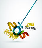 Happy New Year Concept. 2015 Happy New Year Concept, Festive Christmas Holiday Icon Stock Photography