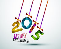 Happy New Year Concept. 2015 Happy New Year Concept, Festive Christmas Holiday Icon Stock Images
