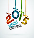 Happy New Year Concept. 2015 Happy New Year Concept, Festive Christmas Holiday Icon Royalty Free Stock Image