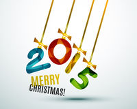 Happy New Year Concept. 2015 Happy New Year Concept, Festive Christmas Holiday Icon Stock Image