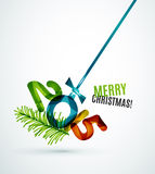 Happy New Year Concept. 2015 Happy New Year Concept, Festive Christmas Holiday Icon Stock Photo