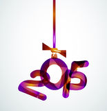 Happy New Year Concept. 2015 Happy New Year Concept, Festive Christmas Holiday Icon Royalty Free Stock Images