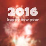 Happy new year 2016. Concept for greeting cards Royalty Free Stock Photo