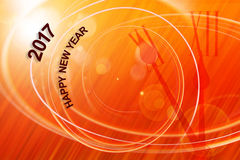 Happy New Year concept with orange. Happy New Year with 5 to12 clock concept Stock Photography
