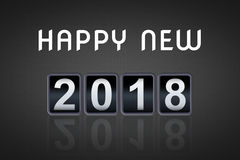 2017 2018 happy new year concept vintage analog counter countdown timer, retro flip number counter from 2017 to 2018 Stock Photo