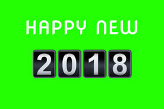 2017 2018 happy new year concept vintage analog counter countdown timer, retro flip number counter from 2017 to 2018 year Stock Image