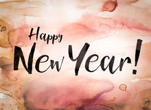 Happy New Year Concept Watercolor Theme Royalty Free Stock Photos
