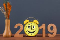 Happy new year concepts 2019 countdown clock. New year concepts stock photography
