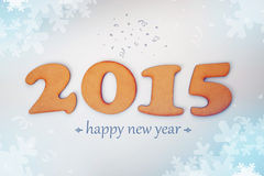 Happy New 2015 Year. Conceptual background with wooden figures Royalty Free Stock Photography