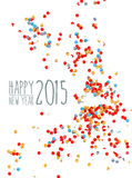 Happy new year 2015 confetti background. Happy New Year 2015 celebration with colorful confetti paper background. Ideal for greeting card, print poster and Royalty Free Illustration