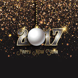 Happy New Year confetti background. Happy New Year background with confetti and decorative text Royalty Free Stock Photography