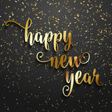 Happy New Year confetti background. Happy New Year background with gold confetti Royalty Free Stock Image