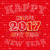Happy New Year 2017 confetti. banner, greeting card. Vector. 2017 Happy New Year with confetti. Banner or greeting card for New Year Holiday on background Stock Photos