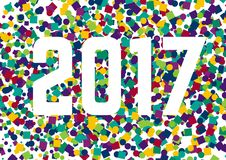 Happy New Year confetti 2017 Royalty Free Stock Photography