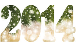 Happy New 2014 Year congratulation banner Stock Photography