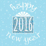 Happy New Year congratulation card Stock Images