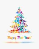Happy New Year congratulation card. Stock Photos