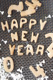Happy new year cookie Stock Images