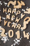 Happy new year 2014 cookie Royalty Free Stock Photos