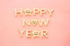 Happy new year  cookies Stock Photos