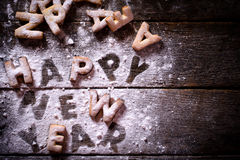Happy New Year cookies Stock Photo