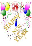 Happy new year countdown Royalty Free Stock Image
