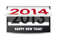 Happy New Year 2014!. New year countdown calendar on white background Royalty Free Stock Photo