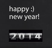 Happy New year. Counter on black background. Year 2014. Countdown Royalty Free Stock Image