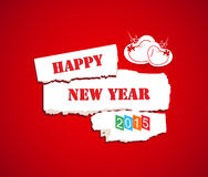 Happy new year 2015 with couple heart Stock Images