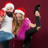Happy new year couple Royalty Free Stock Image