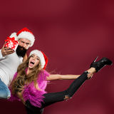 Happy new year couple Royalty Free Stock Photography