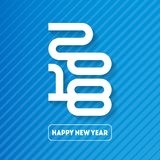 Happy New Year 2018. Cover of business diary or calendar for 201. 8. Vector greeting card with halftone gradient. Vector brochure design template Royalty Free Stock Photo