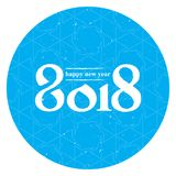 Happy New Year 2018. Cover of business diary for 2018. Vector br Royalty Free Stock Image